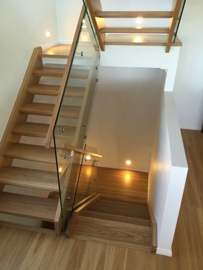 Beautiful stairs of Glass and timber